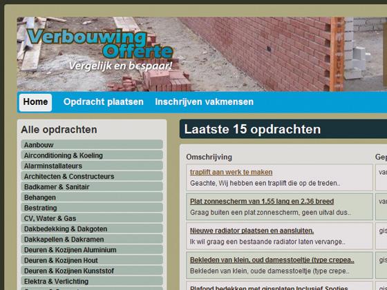 Verbouwing Offerte - Project - IZI Services webdesign te Utrecht